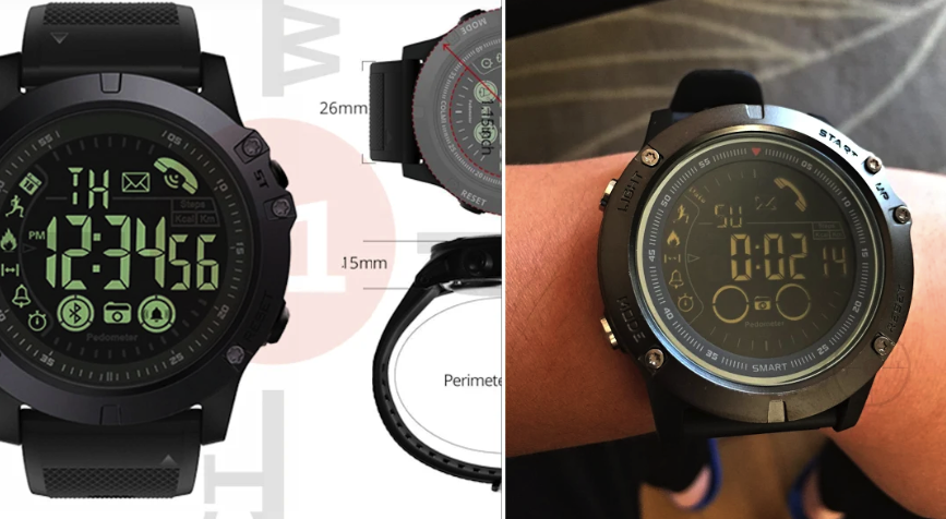 Stylish Black Tactical Smartwach for Gym & Casual Activity in 2019